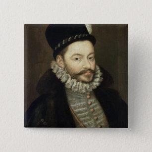 Portrait of Antonio Perez Pinback Button