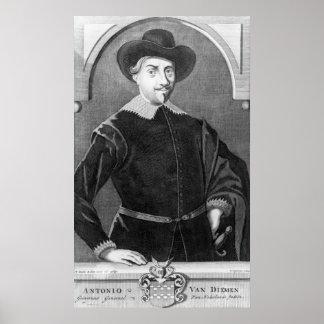 Portrait of Antony van Diemen Poster