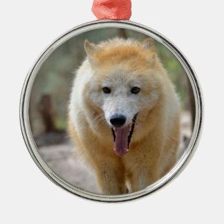 Portrait of Arctic Wolf Metal Ornament