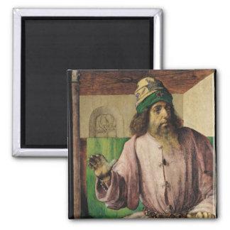 Portrait of Aristotle , c.1475 2 Inch Square Magnet