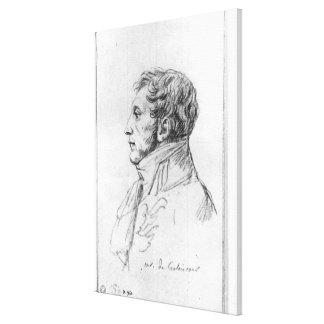 Portrait of Armand Augustin Louis Canvas Print