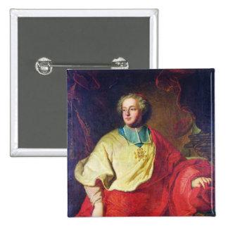 Portrait of Armand Gaston Maximilien de Rohan 2 Inch Square Button