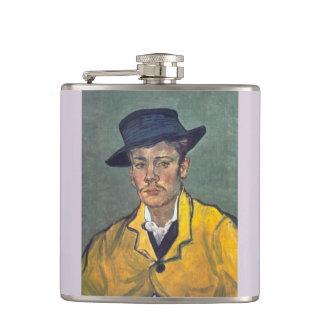 Portrait of Armand Roulin by Vincent Van Gogh Flasks
