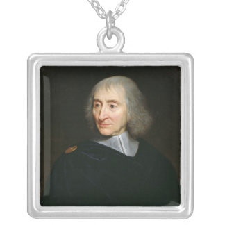 Portrait of Arnauld d'Andilly Square Pendant Necklace