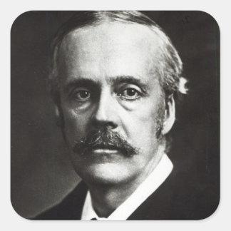 Portrait of Arthur James Balfour Square Sticker