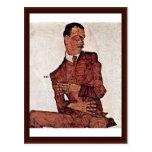 Portrait Of Arthur Roessler By Schiele Egon Post Cards