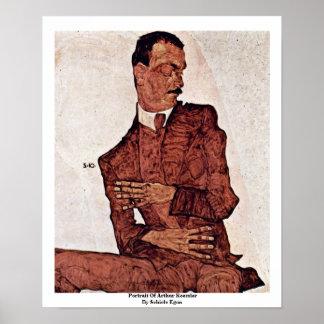 Portrait Of Arthur Roessler By Schiele Egon Print