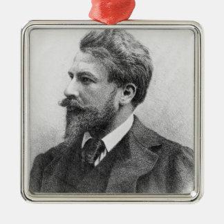 Portrait of Arthur Schnitzler Metal Ornament