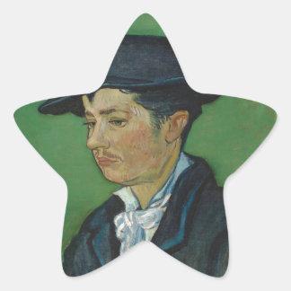 Portrait of arumando ruran star sticker