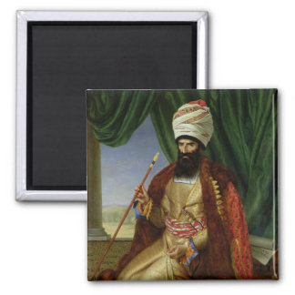 Portrait of Asker-Khan, Ambassador of Persia 2 Inch Square Magnet