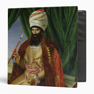 Portrait of Asker-Khan, Ambassador of Persia 3 Ring Binder