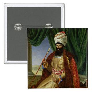 Portrait of Asker-Khan, Ambassador of Persia Button