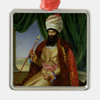 Portrait of Asker-Khan, Ambassador of Persia Metal Ornament