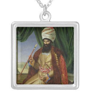 Portrait of Asker-Khan, Ambassador of Persia Silver Plated Necklace