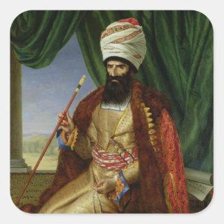 Portrait of Asker-Khan, Ambassador of Persia Square Sticker