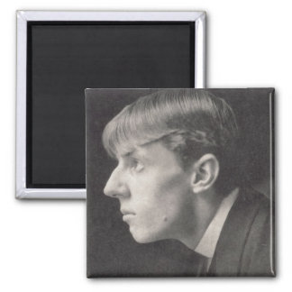 Portrait of Aubrey Beardsley (1872-98) by Frederic 2 Inch Square Magnet