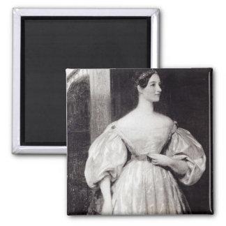 Portrait of Augusta Ada Byron 2 Inch Square Magnet