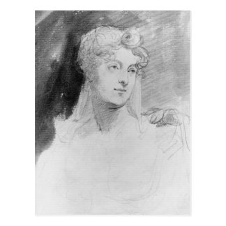 Portrait of Augusta Leigh Postcard