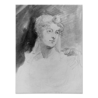 Portrait of Augusta Leigh Poster