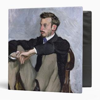 Portrait of Auguste Renoir , 1867 3 Ring Binder