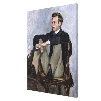 Portrait of Auguste Renoir , 1867 Canvas Print