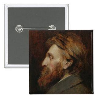 Portrait of Auguste Rodin  1881 Button