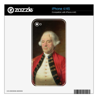 Portrait of Augustin Prevost (1723-86) in Uniform Decals For iPhone 4