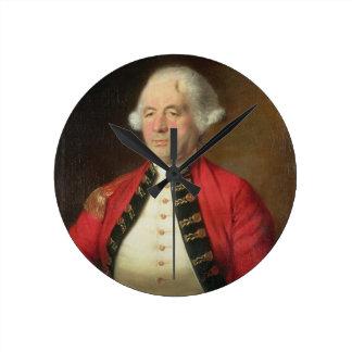 Portrait of Augustin Prevost (1723-86) in Uniform Round Clock