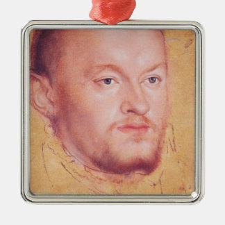 Portrait of Augustus I  Elector of Saxony Metal Ornament