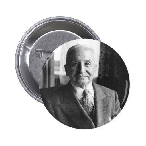 Portrait of Austrian Economist Ludwig Von Mises 2 Inch Round Button