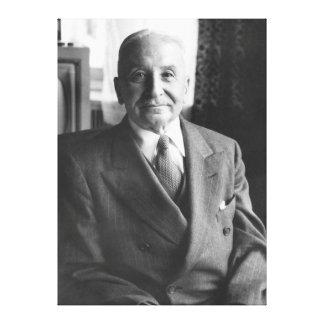 Portrait of Austrian Economist Ludwig Von Mises Gallery Wrap Canvas