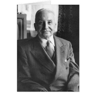 Portrait of Austrian Economist Ludwig Von Mises Greeting Card