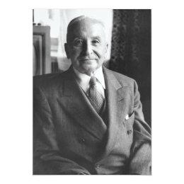 Portrait of Austrian Economist Ludwig Von Mises Card