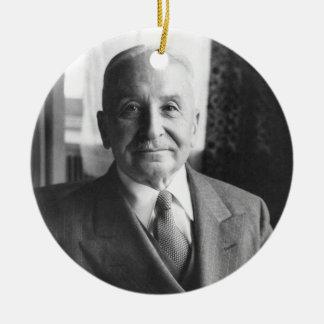 Portrait of Austrian Economist Ludwig Von Mises Ceramic Ornament
