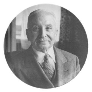 Portrait of Austrian Economist Ludwig Von Mises Dinner Plate