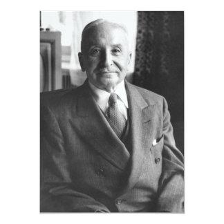 Portrait of Austrian Economist Ludwig Von Mises 5x7 Paper Invitation Card