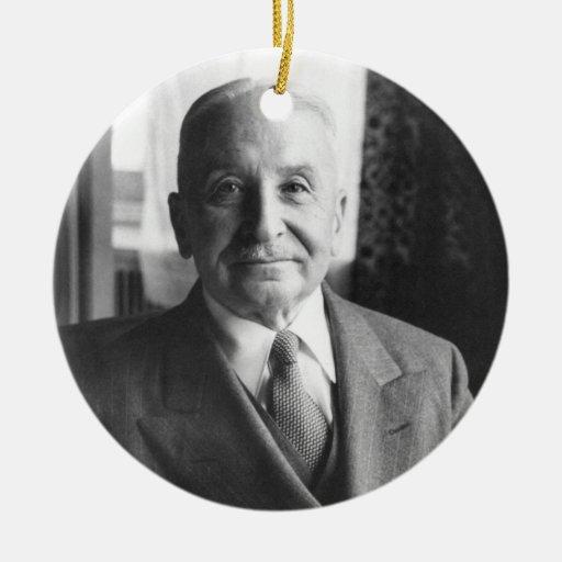 Portrait of Austrian Economist Ludwig Von Mises Christmas Ornament