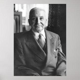 Portrait of Austrian Economist Ludwig Von Mises Poster