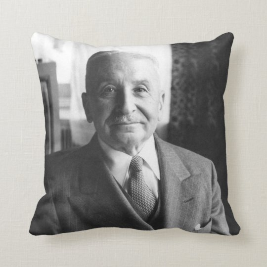 Portrait of Austrian Economist Ludwig Von Mises Throw Pillow
