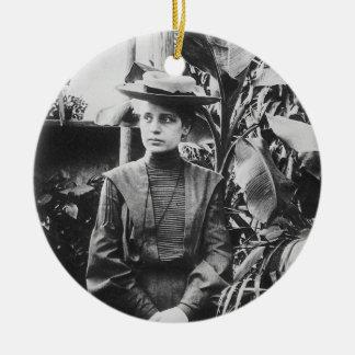 Portrait of Austrian physicist Lise Meitner Ceramic Ornament
