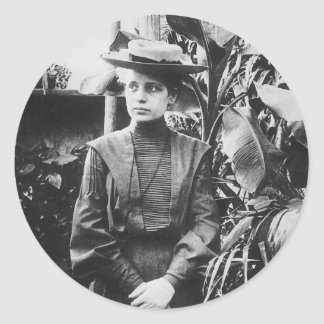 Portrait of Austrian physicist Lise Meitner Classic Round Sticker