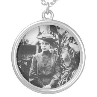 Portrait of Austrian physicist Lise Meitner Necklace