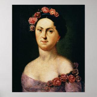 Portrait of Avdotia Istomina, 1830s Poster