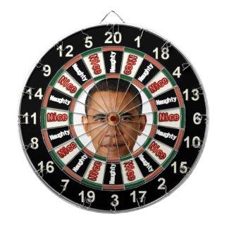 Portrait of Barack Obama Dart Board 2
