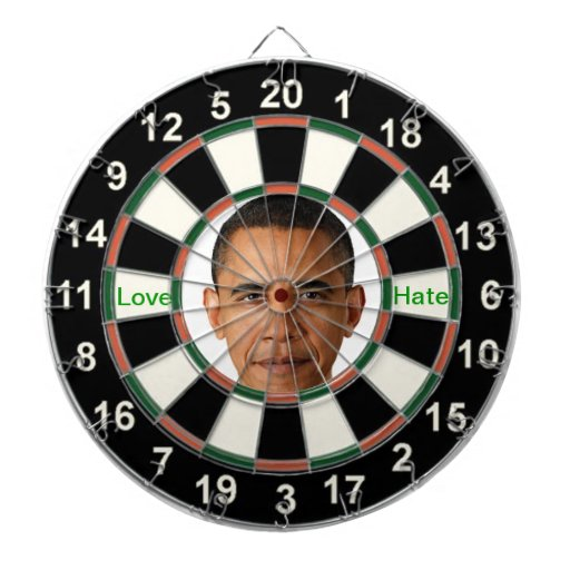 Portrait of Barack Obama Dart Board