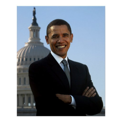 Portrait of Barack Obama Poster