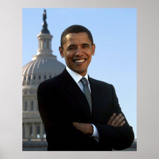 Portrait of Barack Obama Posters