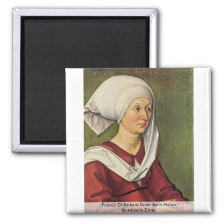 Portrait Of Barbara Durer Born Holper Refrigerator Magnet