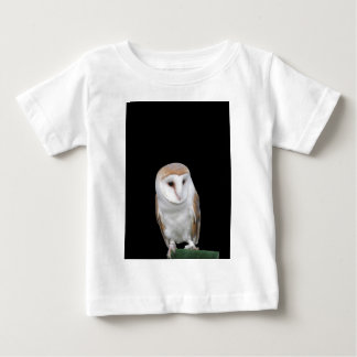 Portrait of barn owl isolated on dark background baby T-Shirt