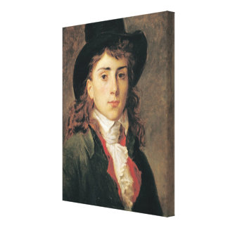 Portrait of Baron Antoine Jean Gros  Aged 20 Canvas Print
